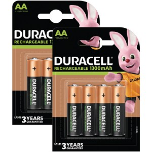 Duracell AA 1300mAh Rechargeable 8 Pack