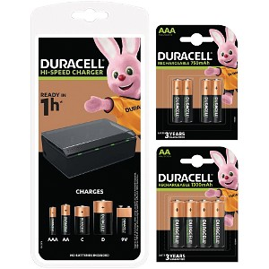 Duracell 1h Multi Charger + AA/AAA Packs