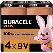 Duracell Plus 9V 4 Pack
